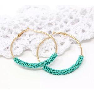 🌻 super cute hoop earrings brand new